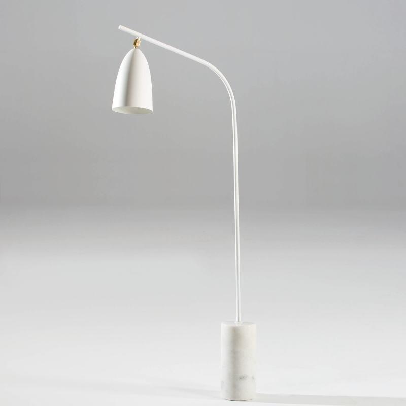 Stehlampe Mit Schirm 62X15X150 White Marble Metal - image 53853