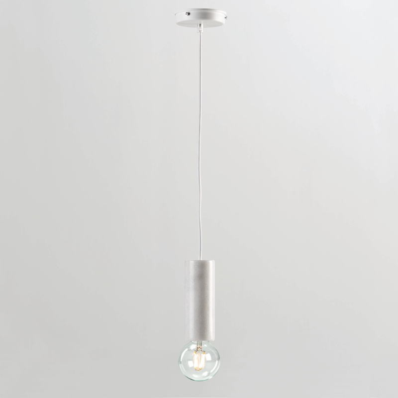 Hanging Lamp Without Lampshade 6X16 Marble White - image 53856