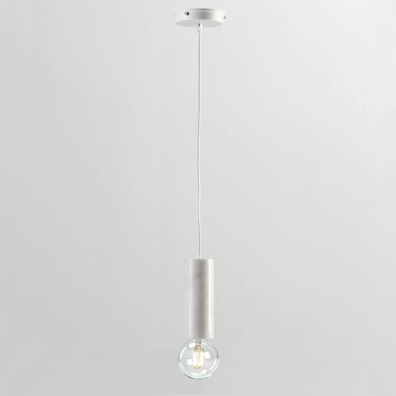 Lampe suspendue sans abat-jour 6x16 Marbre Blanc - image 53856