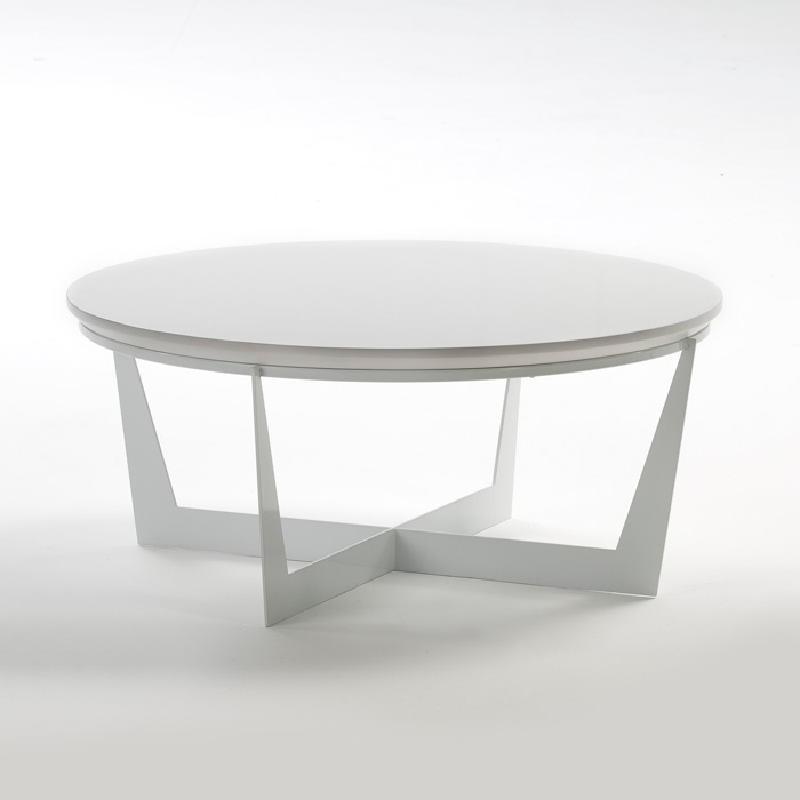 Coffee Table 90X90X38 Metal Mdf White - image 53919