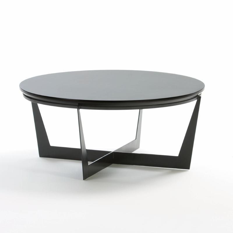 Table basse 90x90x38 Métal MDF Noir - image 53923