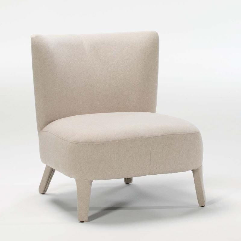 Armchair 76X79X86 Wood Fabric Beige - image 53941