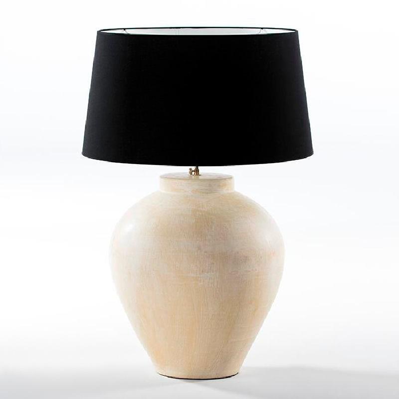 Lampe de Table sans abat-jour 45x45x55 aprox. Terre cuite Crème