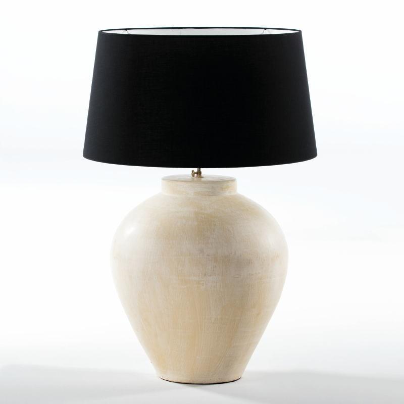 Lampe de Table sans abat-jour 45x45x55 aprox. Terre cuite Crème - image 53954