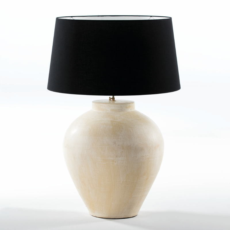 Table Lamp Without Lampshade 45X45X55 Aprox. Terra-Cotta Cream - image 53954