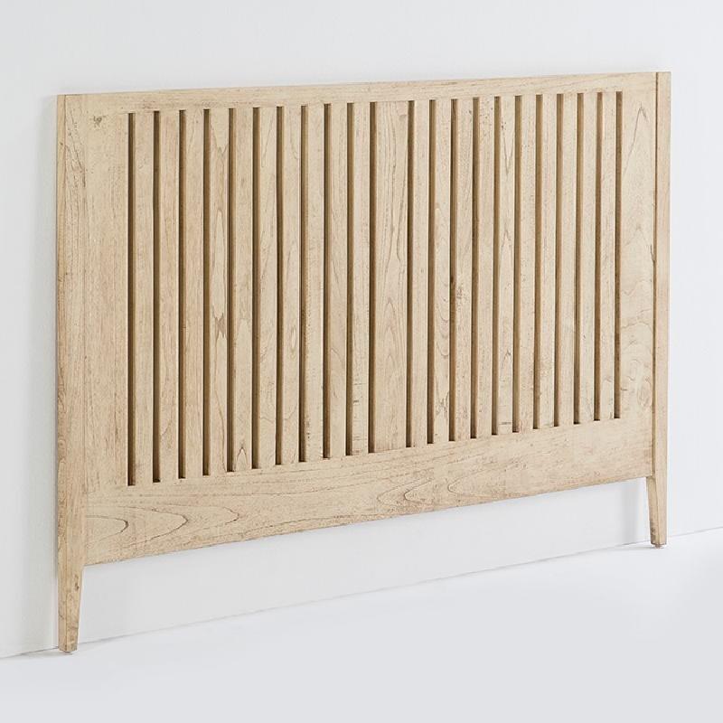 Kopfteil 162X3X110 Holz Weiß Verschleiert