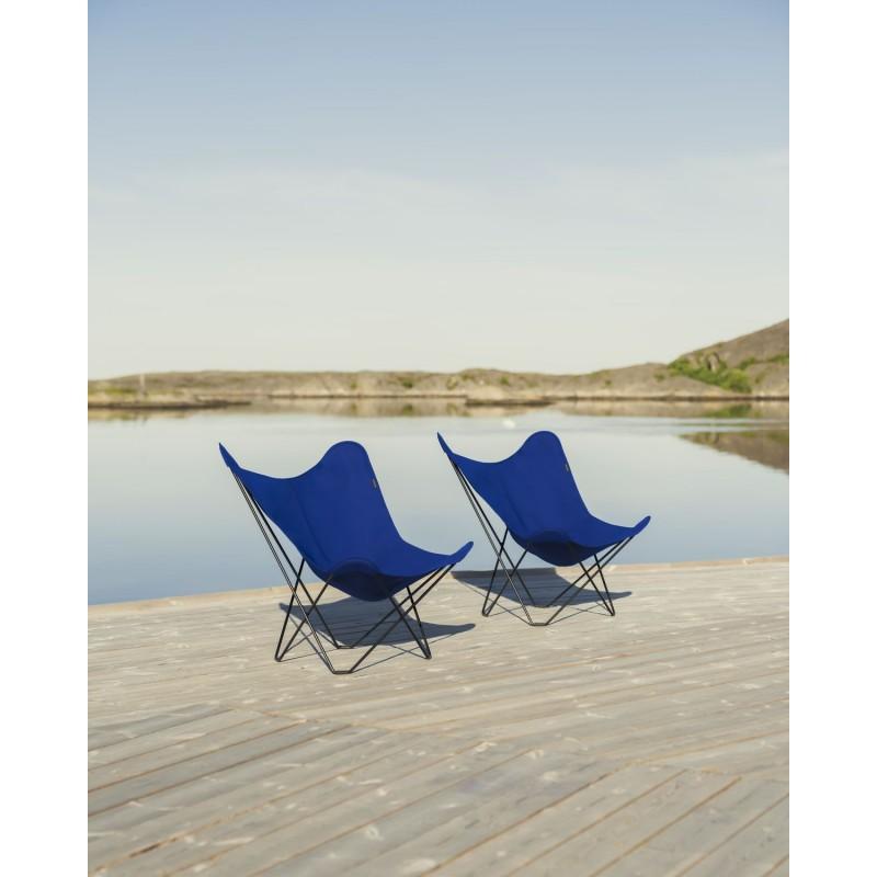 Garten Schmetterling Sessel aus Stoff Sumbrella SUNSHINE MARIPOSA Fuß Schwarz Metall (atlantisches Blau) - image 54112