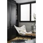 HEmp butterfly chair CANVAS MARIPOSA foot black metal (white)