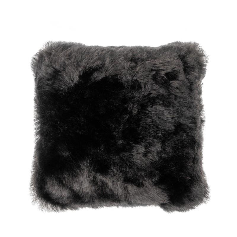 Coussin en peau de mouton, poils courts ICELAND (noir)