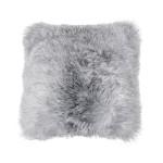 Kissen aus Schafspelz, kurzhaarig ICELAND (weiß, grau)