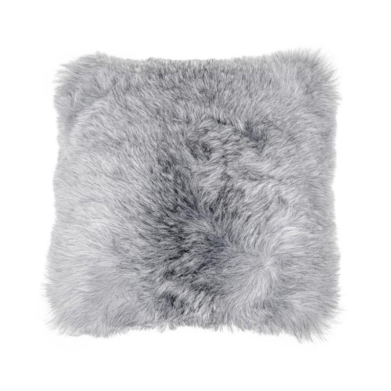 Coussin en peau de mouton, poils courts ICELAND (blanc, gris) - image 54271