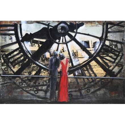 Metallklammer Gemälde